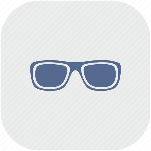 app, eye, glasses, gray, style, vision icon