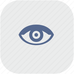 app, eye, gray, view, vision icon