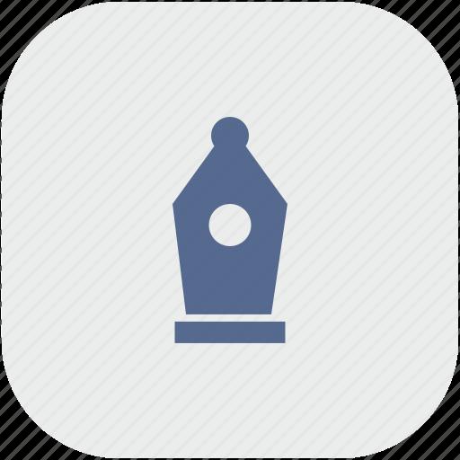 app, edit, feather, graphics, gray, instrument icon