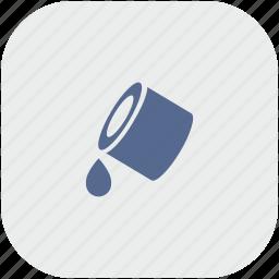 app, color, drop, fill, gray, ink, printer icon