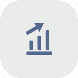 chart, data, grow, report, rounded, seo, square icon