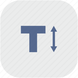 format, height, letter, rounded, size, square, text icon
