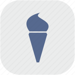 app, cone, cream, gray, ice icon
