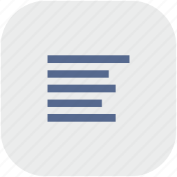 align, format, left, paragraph, rounded, square, text icon