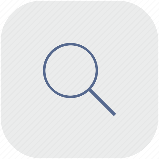 app, find, gray, loop, magnifier icon