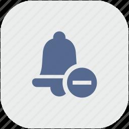 alarm, app, bell, erase, gray, minus, ring icon