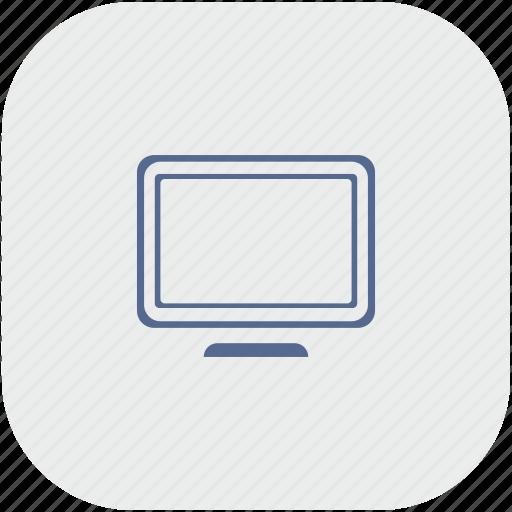 app, display, gray, monitor, screen, vision icon
