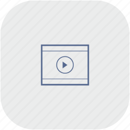 app, cinema, film, gray, movie, video icon