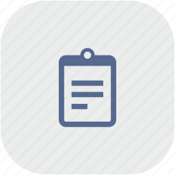 app, gray, list, notepad, order icon