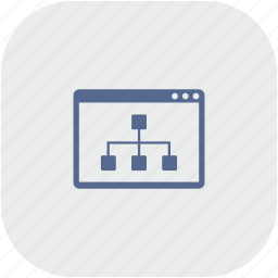map, page, rounded, seo, sitemap, square icon