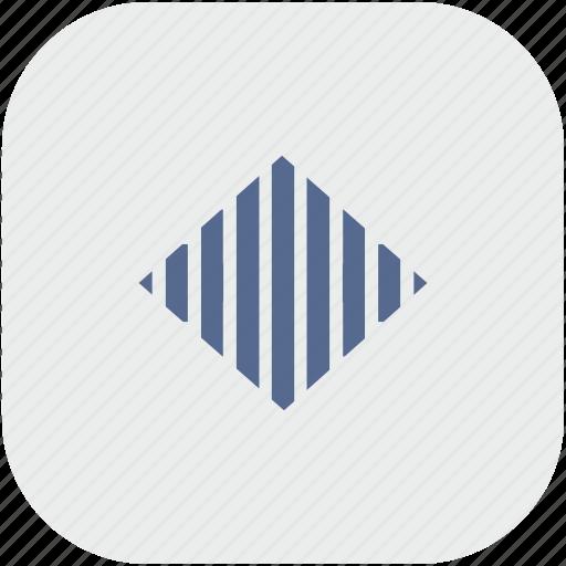 app, gray, levels, sound icon