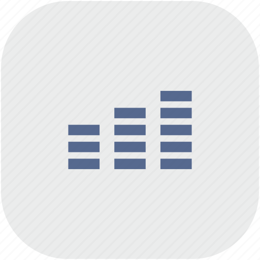 app, gray, levels, music, sound icon