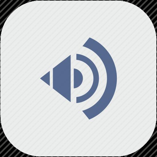 acoustic, app, gray, music, sound, speaker icon