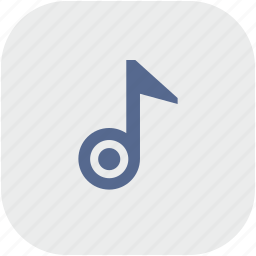 app, gray, music, note, sound icon