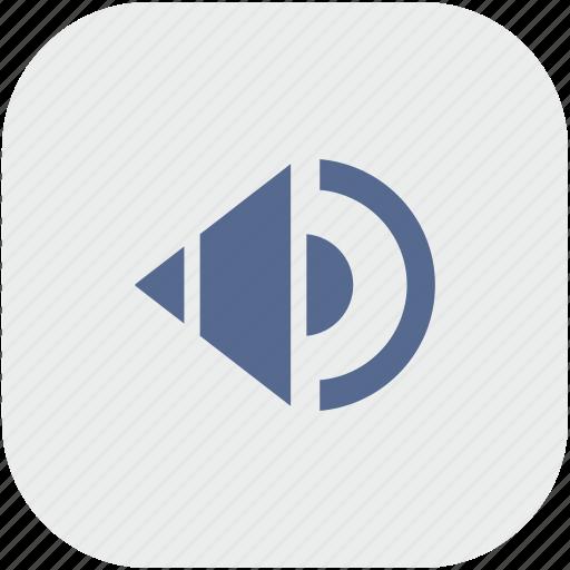 app, gray, music, mute, sound, speaker icon