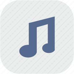 app, gray, music, mute, note, sound icon
