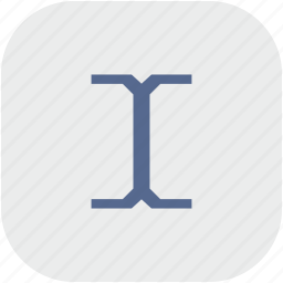cursor, edit, rounded, space, square, text icon