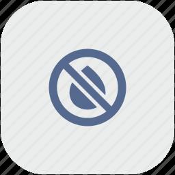 app, cartridge, empty, gray, ink, printer, stop icon