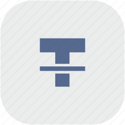 format, letter, rounded, square, strikethrough, text icon