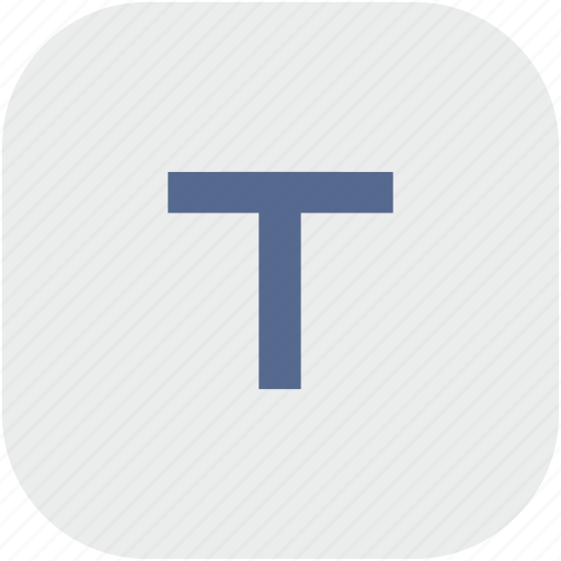 format, letter, normal, rounded, square, t, text icon