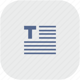 edit, editor, format, rounded, square, text icon