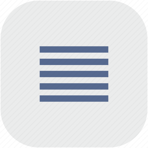 format, justify, paragraph, rounded, square, text icon
