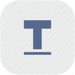 format, letter, rounded, square, text, underline icon