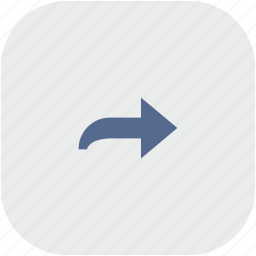 app, arrow, gray, right, turn icon