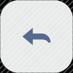 app, arrow, gray, left, turn icon