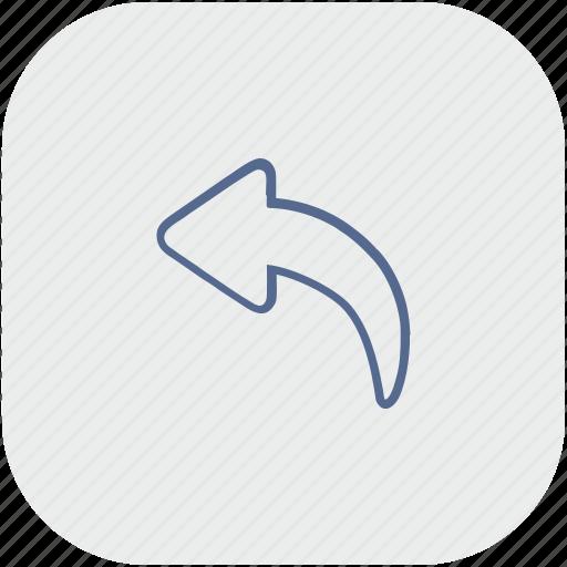 app, arrow, back, gray, history, undo icon