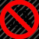 fork lift, forklift, loader, prohibited, prohibition, sign, truck