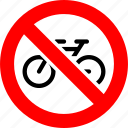 bicycle, bicycling, bike, prohibited, prohibition, sign, transport