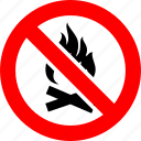 bonfire, fire, flame, prohibited, prohibition, sign, warning