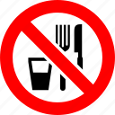cafe, drink, eat, food, prohibited, prohibition, sign