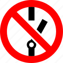 industrial, no, prohibited, prohibition, sign, switch, switching