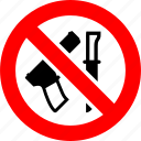 gun, knife, no, prohibited, prohibition, sign, weapon