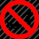 feet, no, prohibition, put, putting, seat, sign