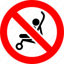 baby, carriage, no, prohibited, prohibition, sign, strollers