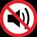 forbidden, noise, prohibition, sound