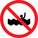 drowning, forbidden, prohibition, swim icon