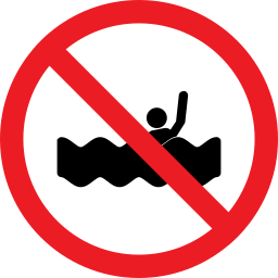 drowning, forbidden, prohibition, swim icon