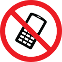 forbidden, phone, prohibition, warning icon
