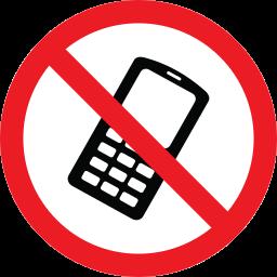 forbidden, phone, prohibition, warning icon