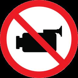 camera, forbidden, prohibition, warning icon
