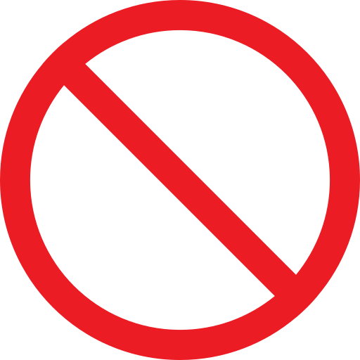 forbidden, prohibiting sign, prohibition, warning icon