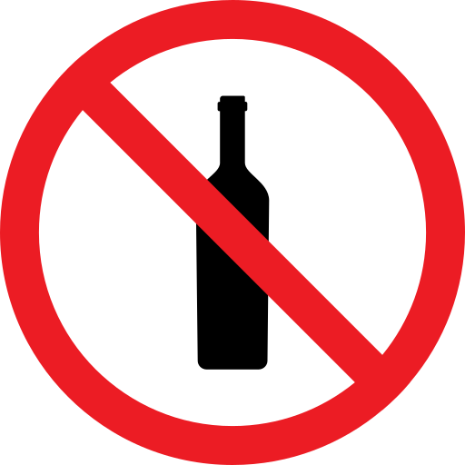 alcohol, bottle, forbidden, prohibition icon