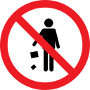 forbidden, litter, problem, prohibition icon