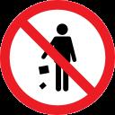 forbidden, litter, problem, prohibition