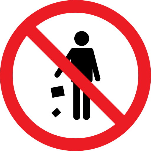 forbidden, litter, problem, prohibition icon