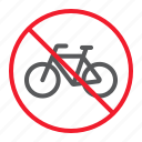ban, bicycle, bike, forbidden, no, prohibition, stop icon